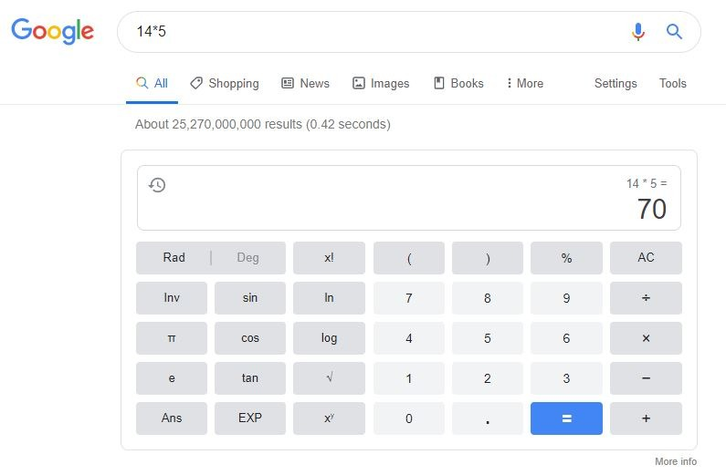 Google Calculator Snippet