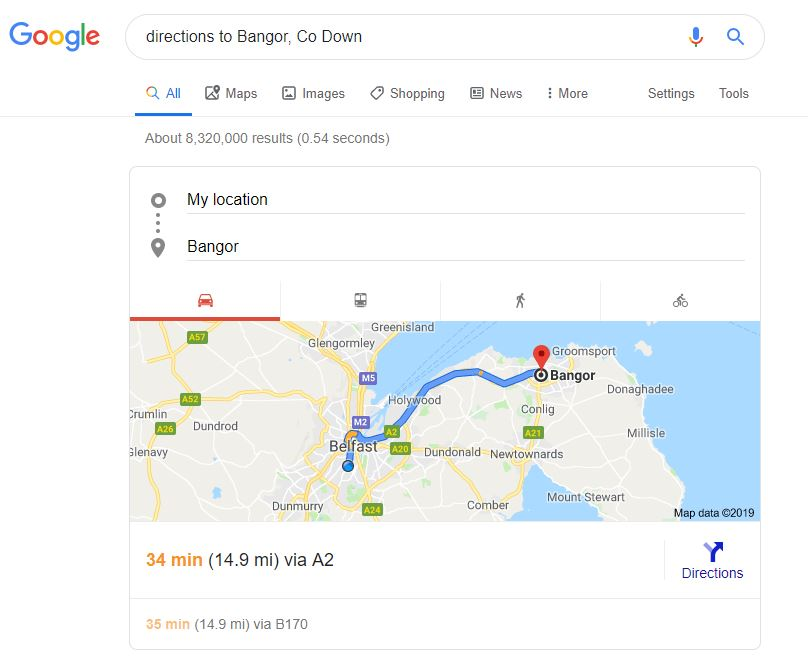 Google Directions Snippet
