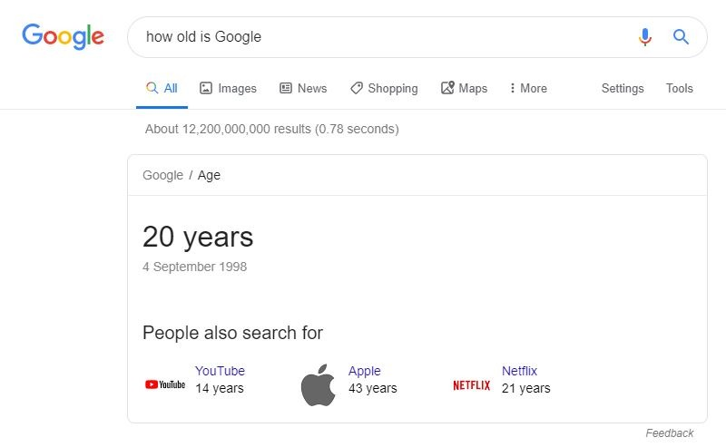 Google Rich Answer