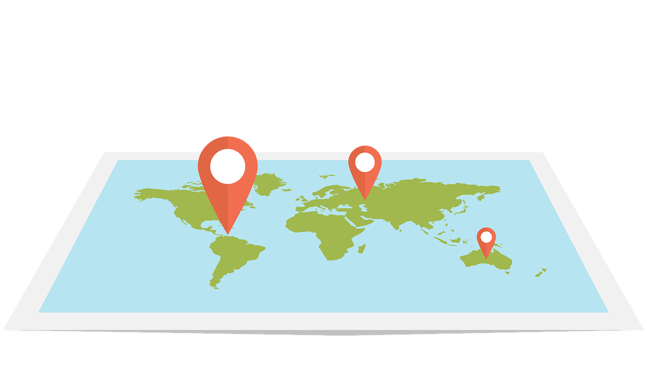 Location Targeting World Map