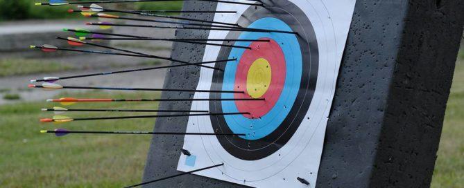 Arrow misses archery target