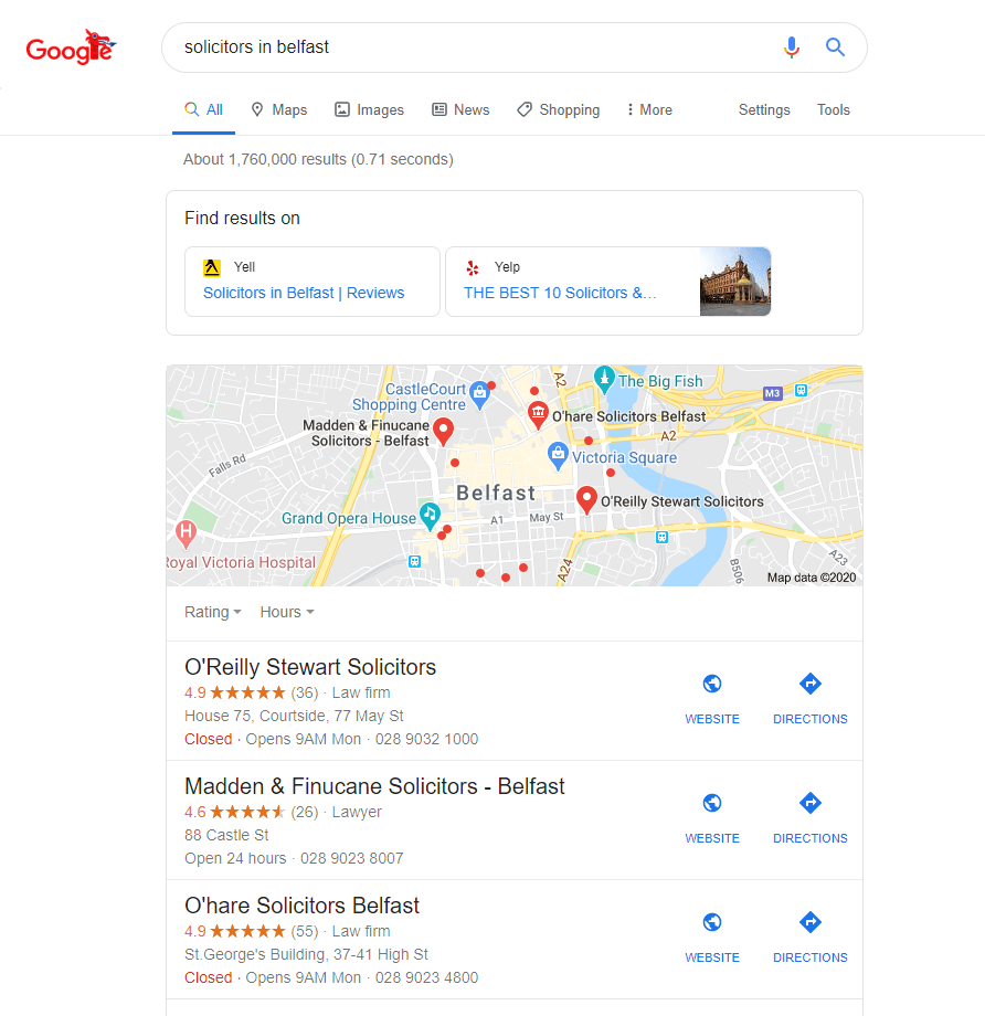 Directories in Search Results