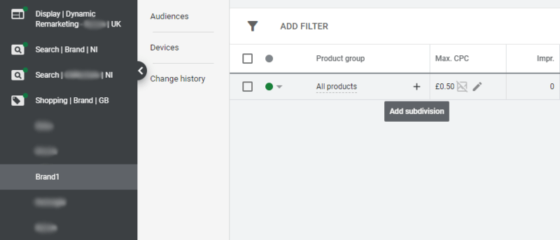 create product groups