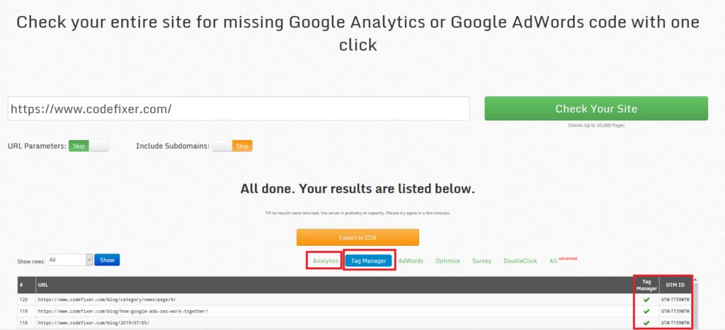 Google Analytics Checker