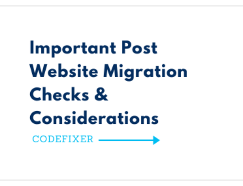 Important Post Website Migration Checks & Considerations