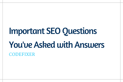 SEO FAQs Answered