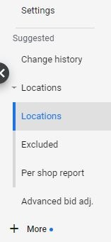 User location settings