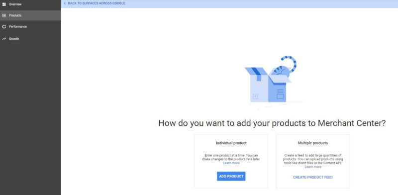 Google Merchant Center Add Products