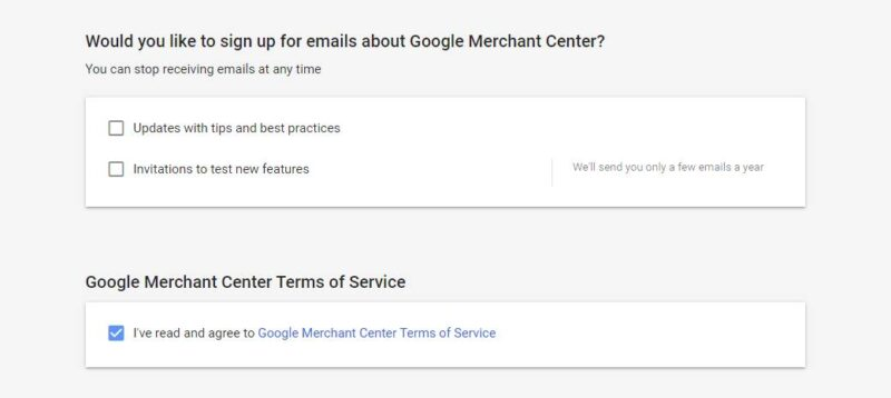 Google Merchant Center Agree To Policy