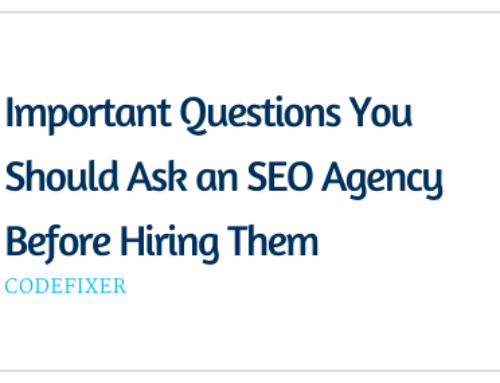 Important Questions You Should Ask an SEO Agency Before Hiring Them