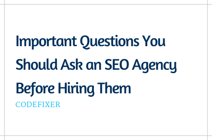 Important Questions to Ask an SEO Agency Before Hiring Them