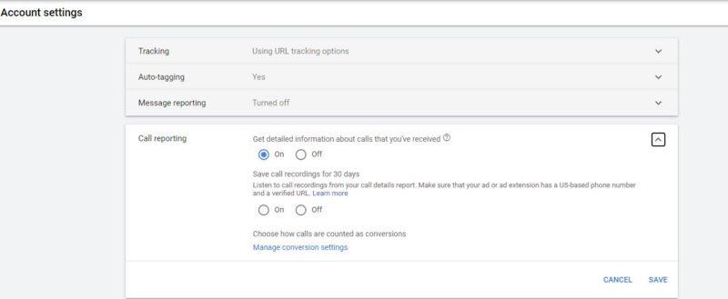 Google Ads Account Settings